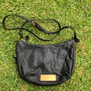 ✨🖤Marc Jacobs Black Leather Hobo Crossbody Bag🖤✨